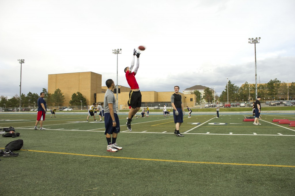 First spring football team tryouts held