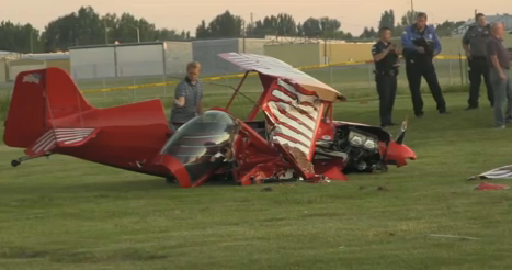 Pilot Walks Away From Plane Crash