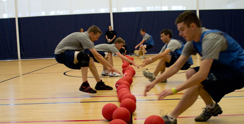 Giant dodgeball game held on campus