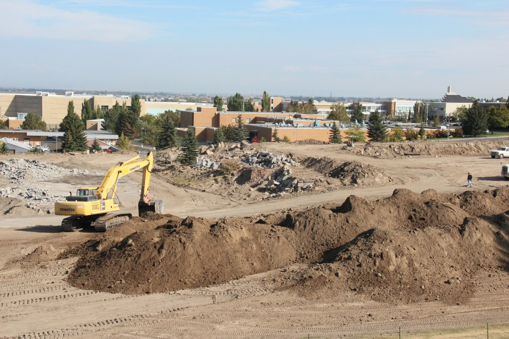 Construction begins for the new Agriculture building. JAILYNN ZENGER | Scroll Photography