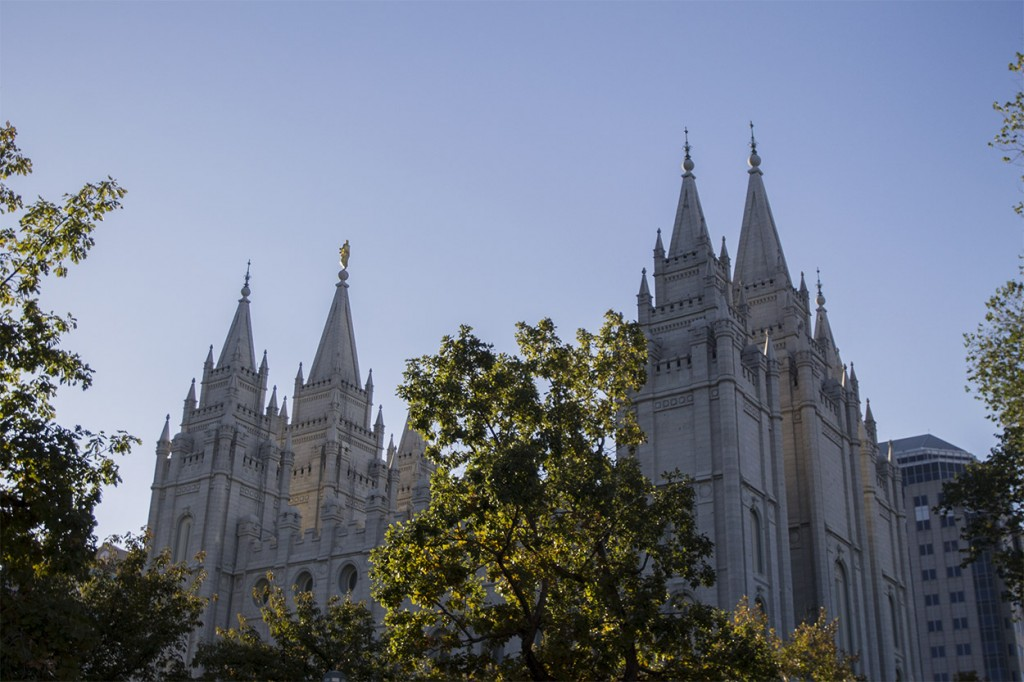 Temple Square Before General Conference, Sunday Morning Sessions