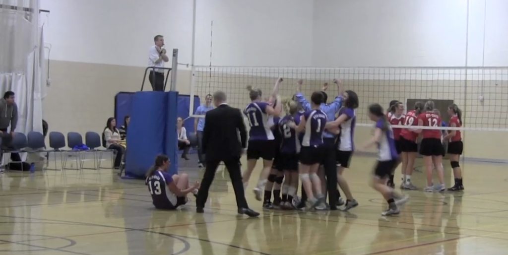 Freeze Bump Out Hawks In Volleyball Championship