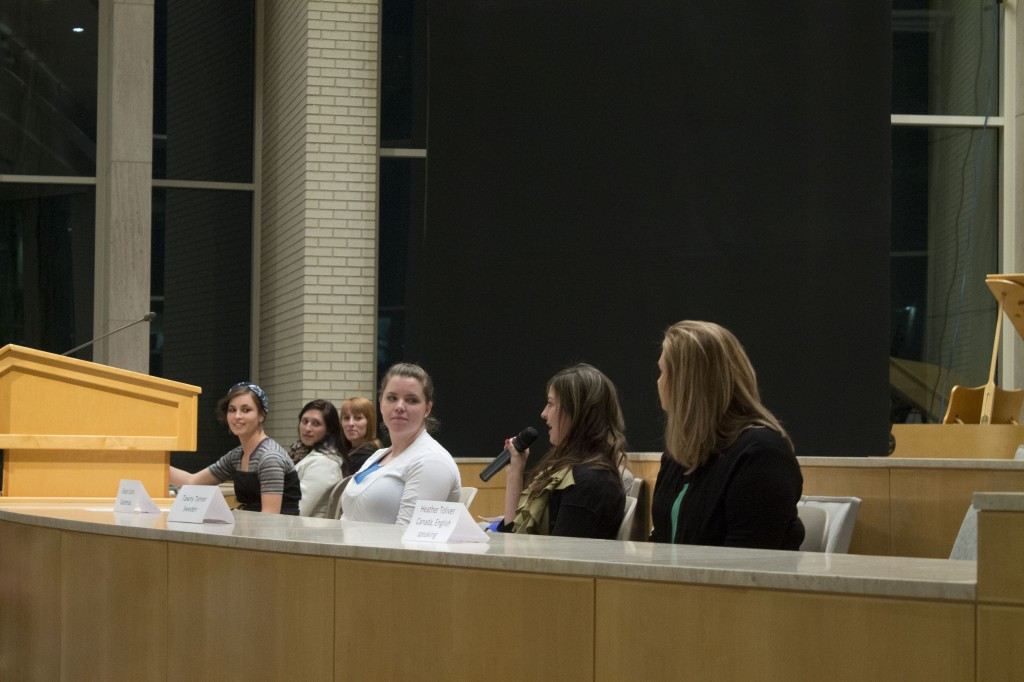 An audience of 210 women attended an event for women interested in missions Jan. 24. Women asked questions to six panelists.