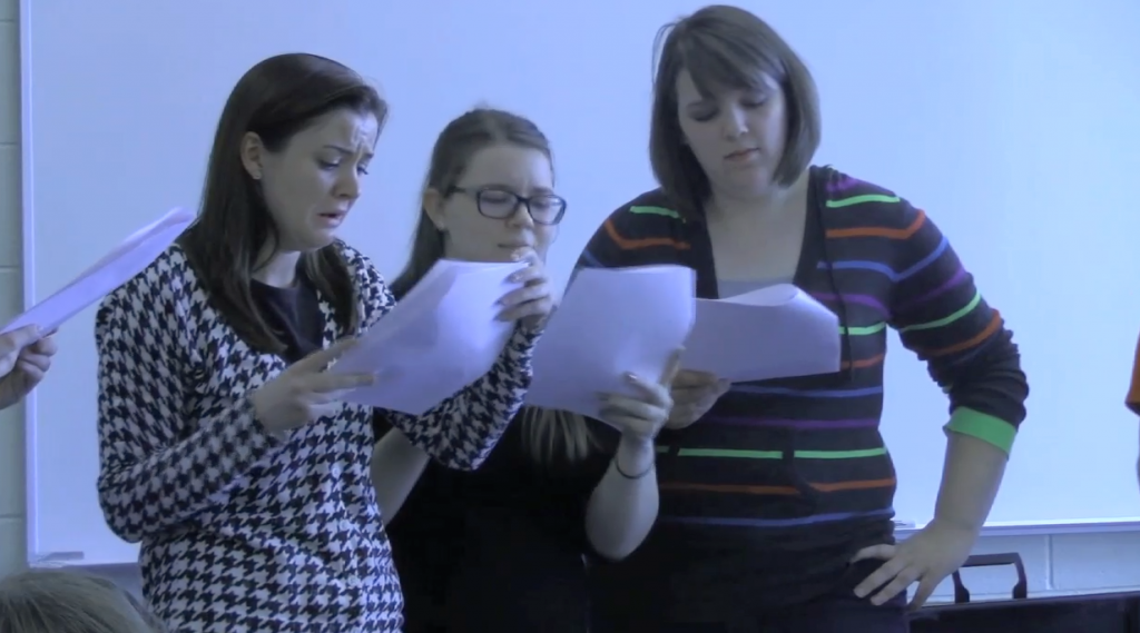 Students Work on Their Comedy Sketches