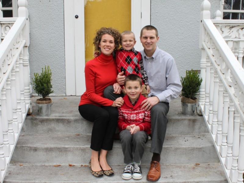 Rebecca Pyper poses with her family. She is one of 834 full-time, adjunct, and one-year teachers employed by BYU-Idaho.