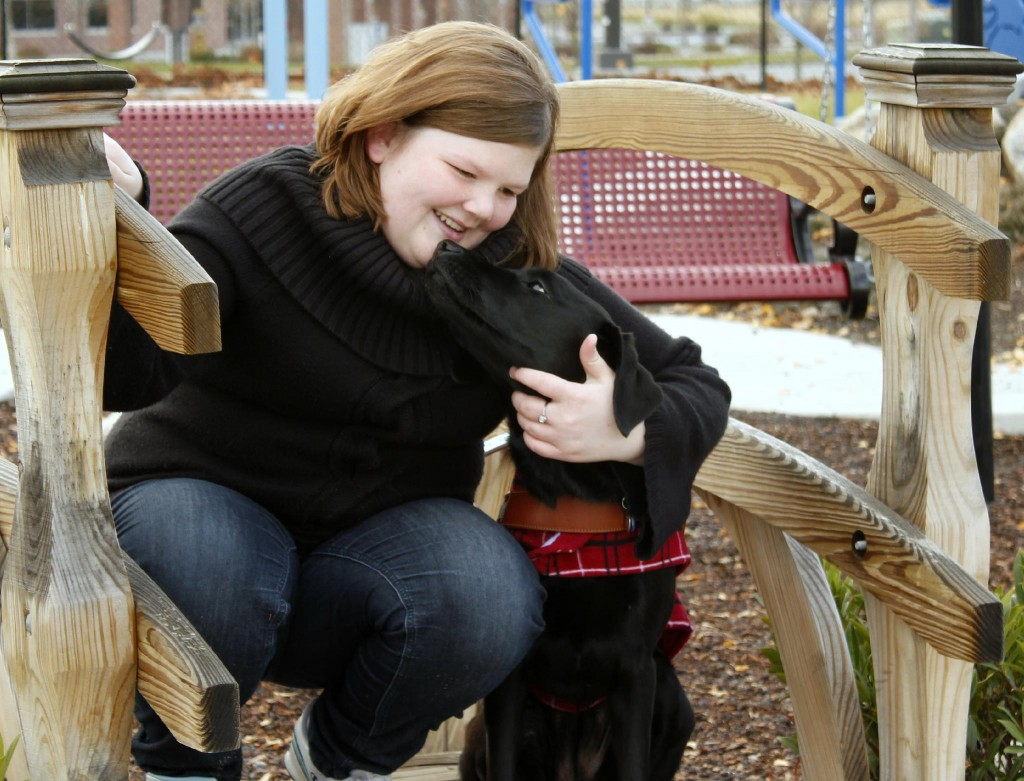 For legally blind girl, dog is best friend