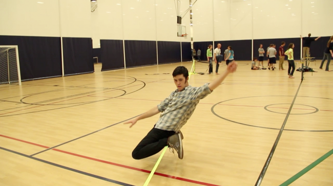 Slacklining Puts a Spring in Students Steps