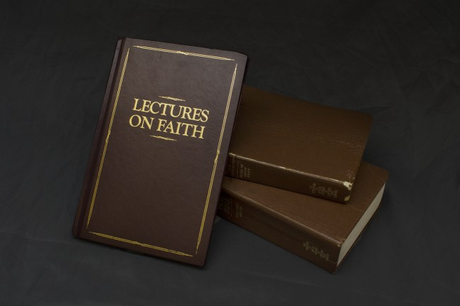 "The book ""Lectures on Faith"" is composed of seven lectures goven by the Prophet Joseph Smith on the doctrine of the Church. The lectures were orginally included in the Doctrine and Covenants but were removed shortly after. LINDSAY CYNGOT 