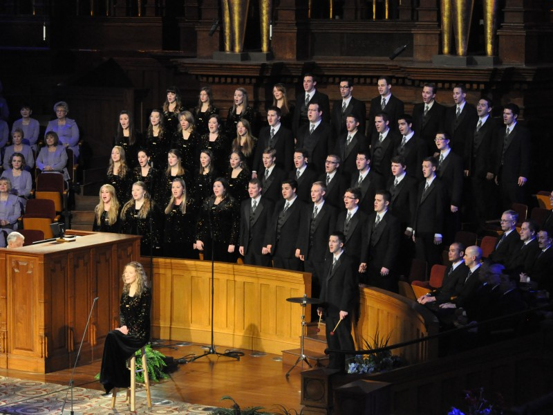 Along with performing in Seattle, Collegiate Singers performed with the Mormon Tabernacle Choir during Music and the Spoken Word on March 2. The BYU-Idaho choir has performed in Ghana and with the Idaho Falls Symphony. They tour every other year. Members of the choir will perform in the Priesthood Session of April 2014 General Conference.  MORMON TABERNACLE CHOIR | Courtesy Photo