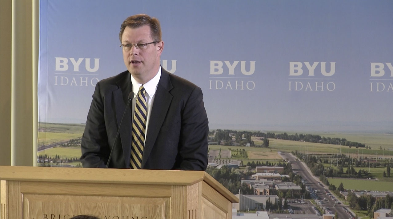 Watch President Gilbert's first press conference as president of BYU-Idaho