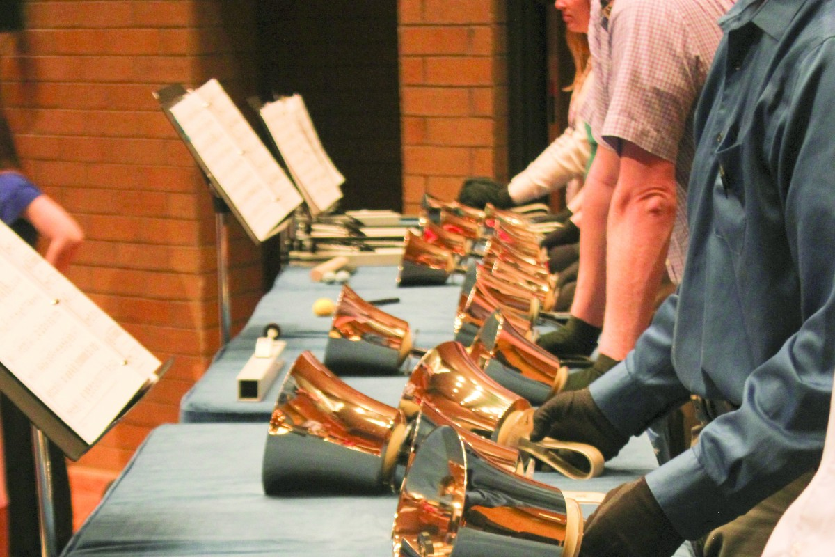 Bells on Temple Square plays handbells