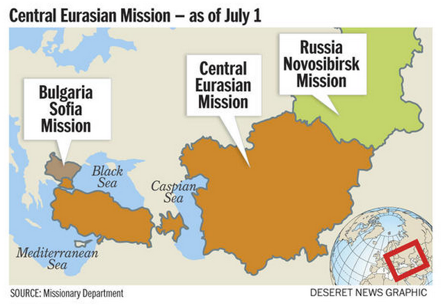 LDS Church announces Central Eurasia Mission