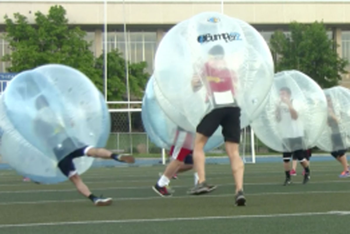 Bubble soccer makes its debut at BYU-Idaho