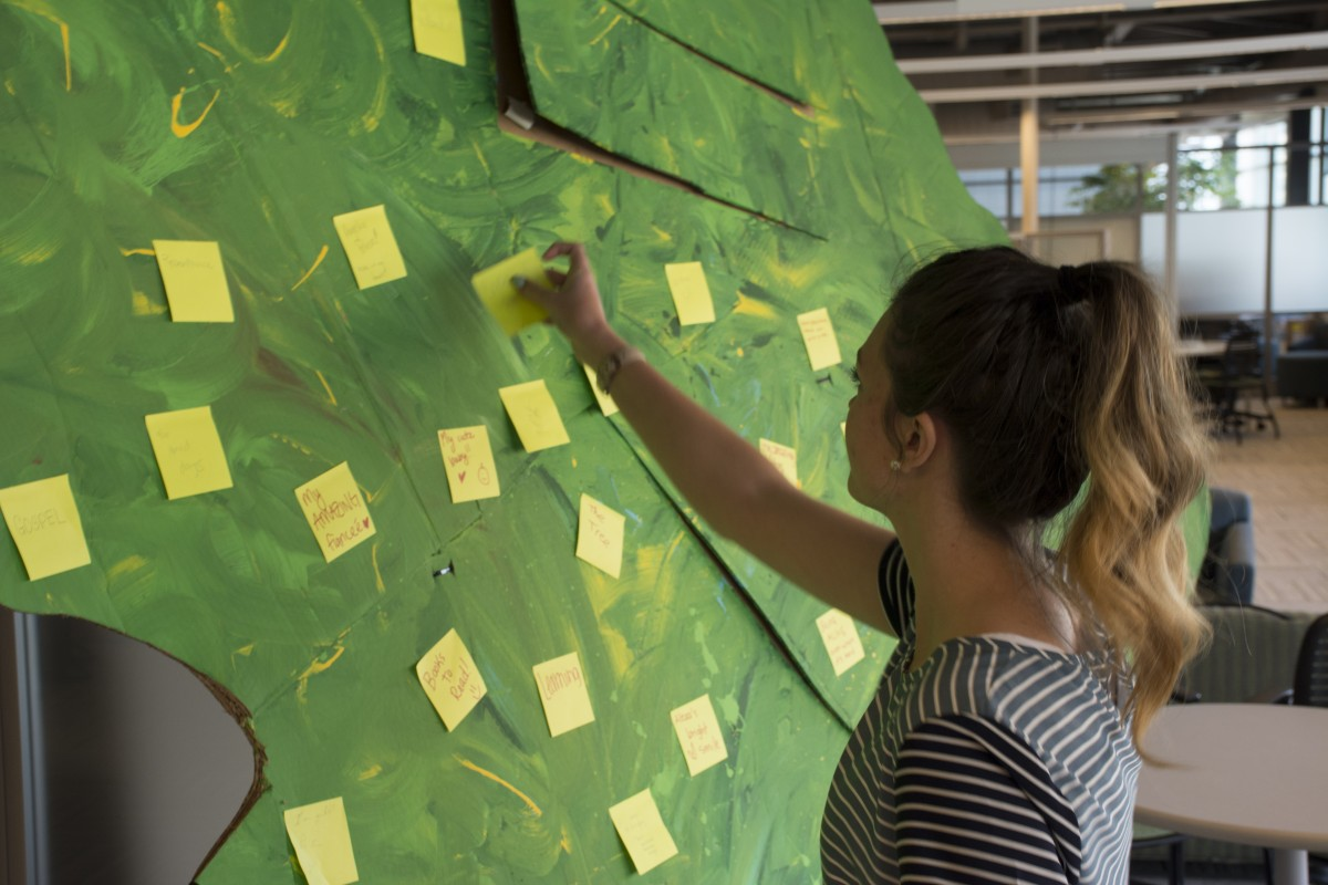 Students show gratitude on Giving Tree
