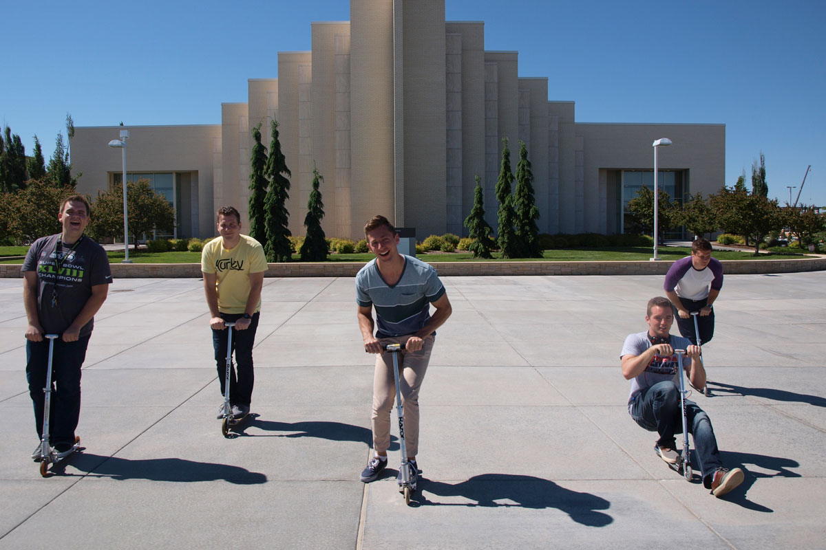 Students roll through campus to bring back scooters