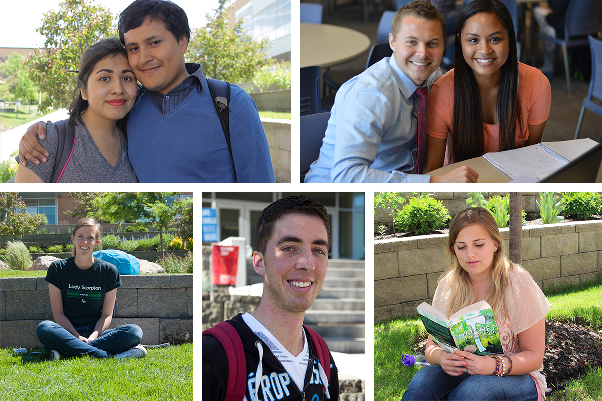 People of BYU-I: Magda and Dan, Aaron and Katrina, Nicole, Kaden and Girdy