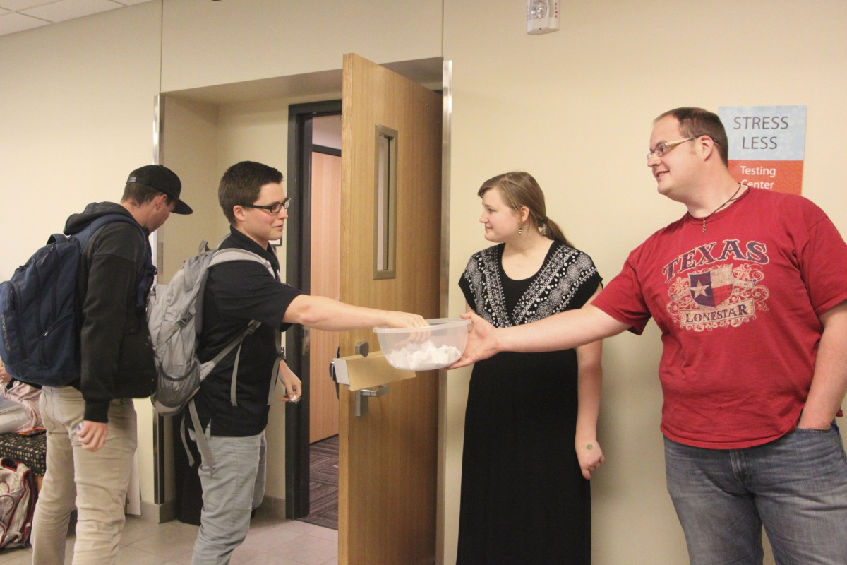 Service team brings happiness to students