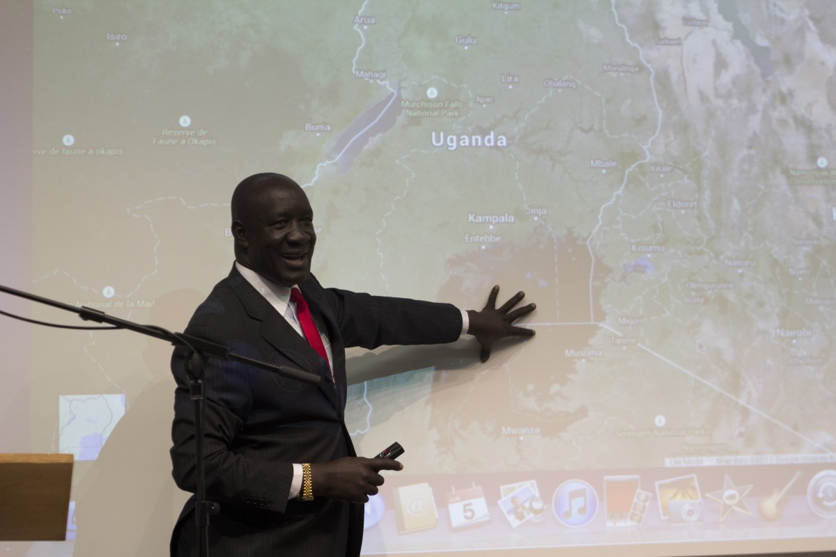 Ugandan minister talks to students about disaster preparation