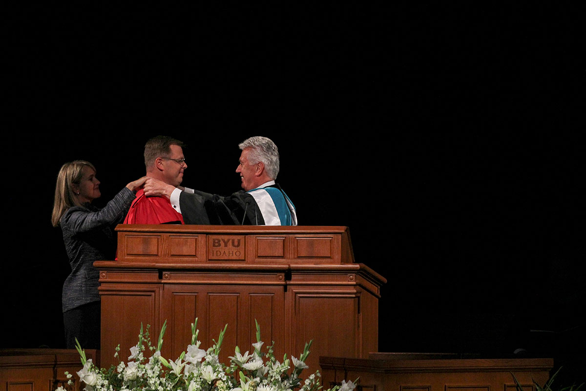 Dr. Clark G. Gilbert officially installed as President of BYU-Idaho