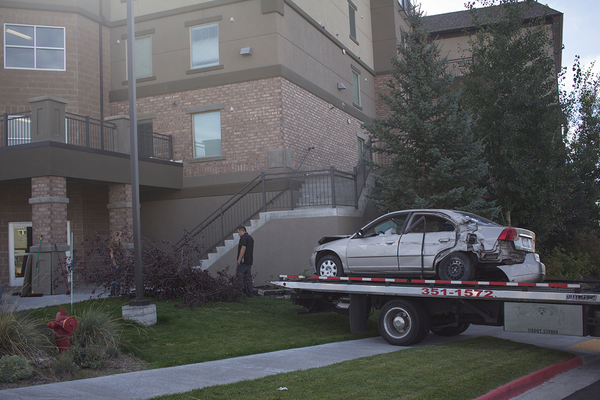 Driver who crashed into The Towers under the influence of meth