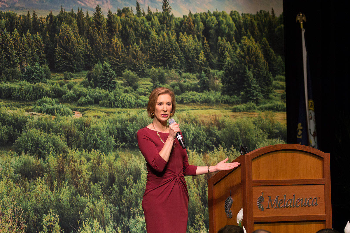 Carly  Fiorina campaigns in Idaho Falls