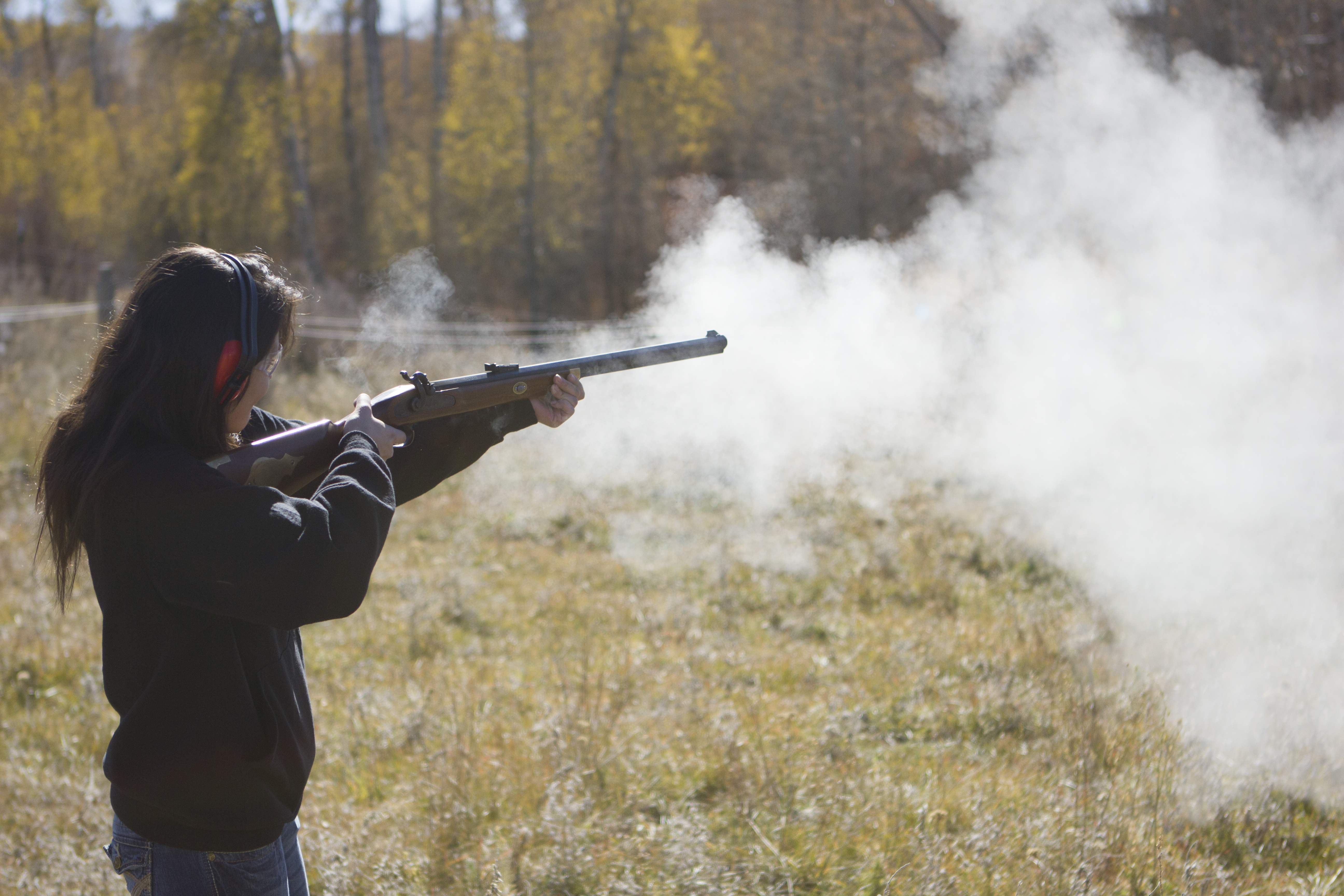 Black powder rifles go out with a bang