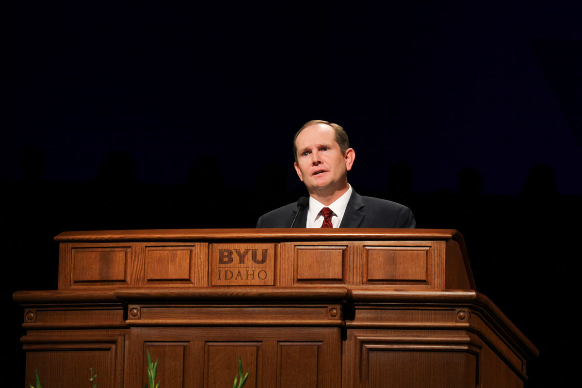 Webster challenges students to improve their BYU-I experience