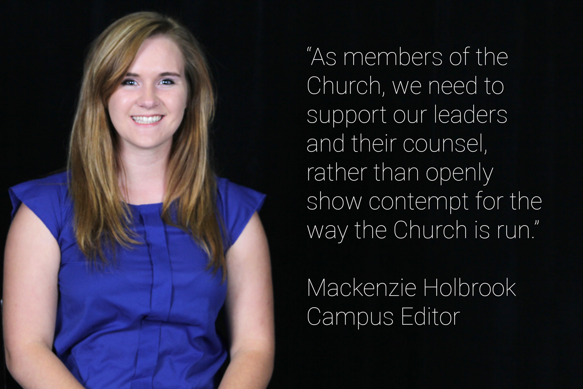 Have faith in the Church and its leaders