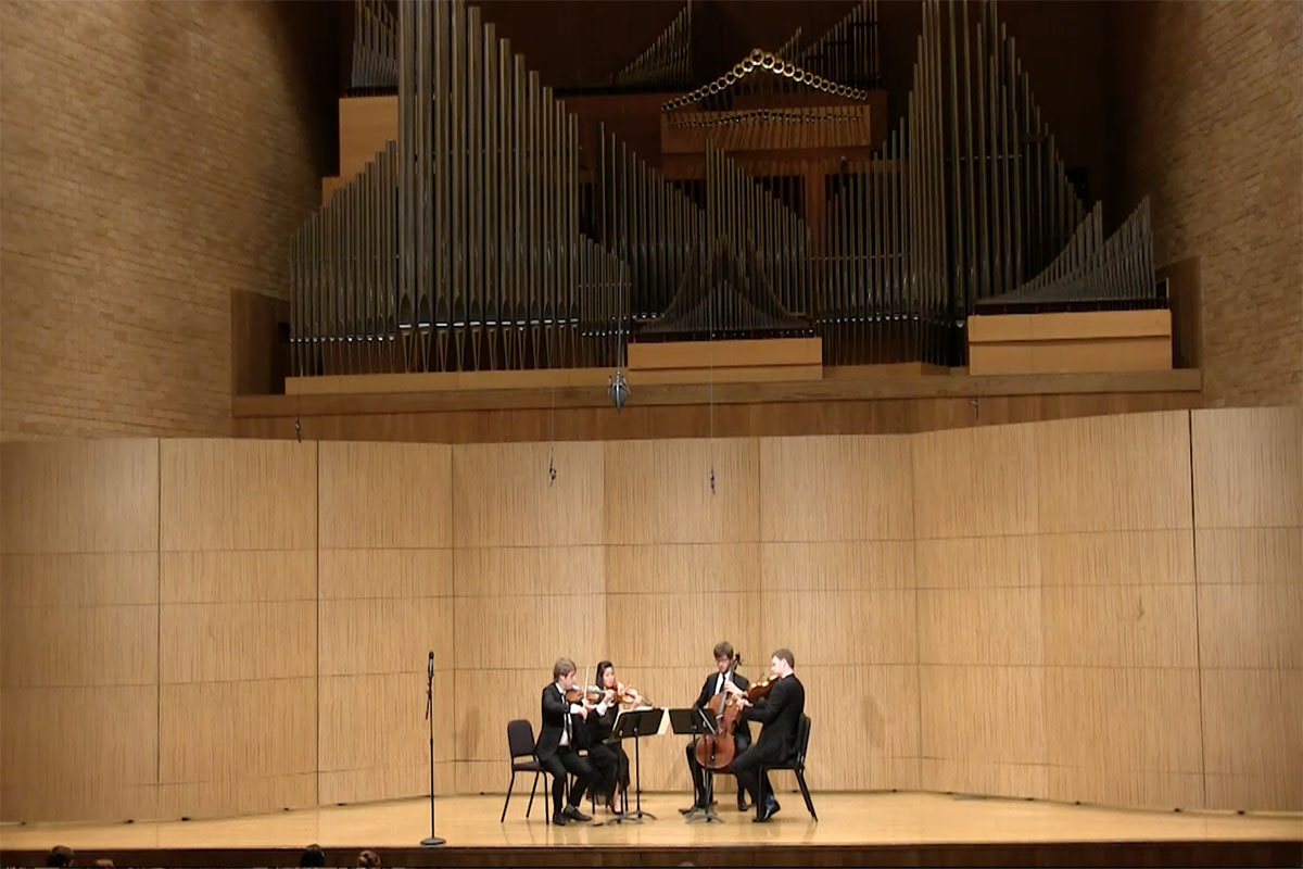 Aeolus Quartet teaches, performs during visit