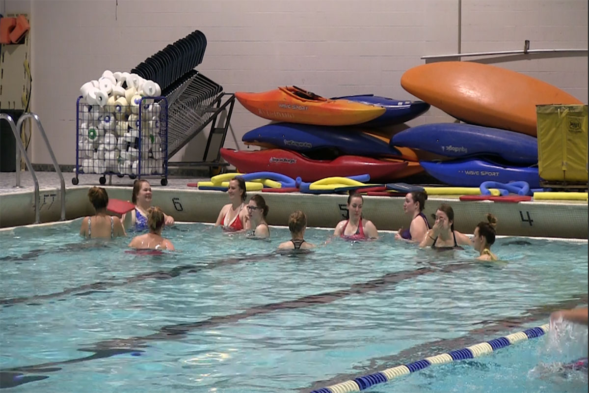 Watch: Students share thoughts on water aerobics