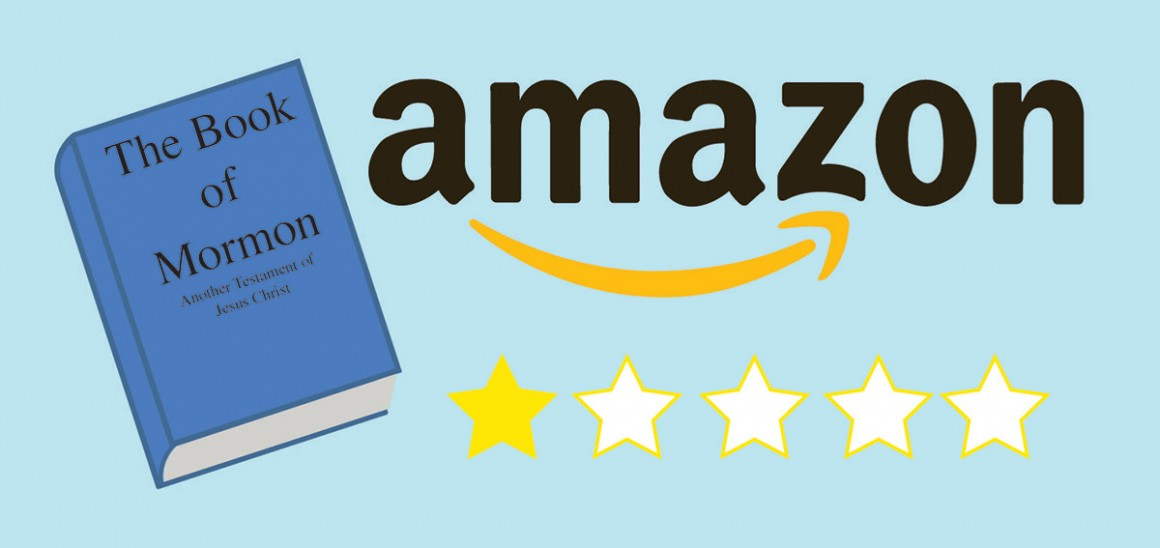 The Book of Mormon and Amazon. Should students give it a five star rating? (Allison Houtz, Scroll Illustraion)
