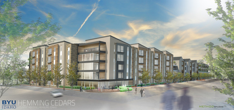 A rendition of the new married and single student complex. (Courtesy Photo, East Idaho News)
