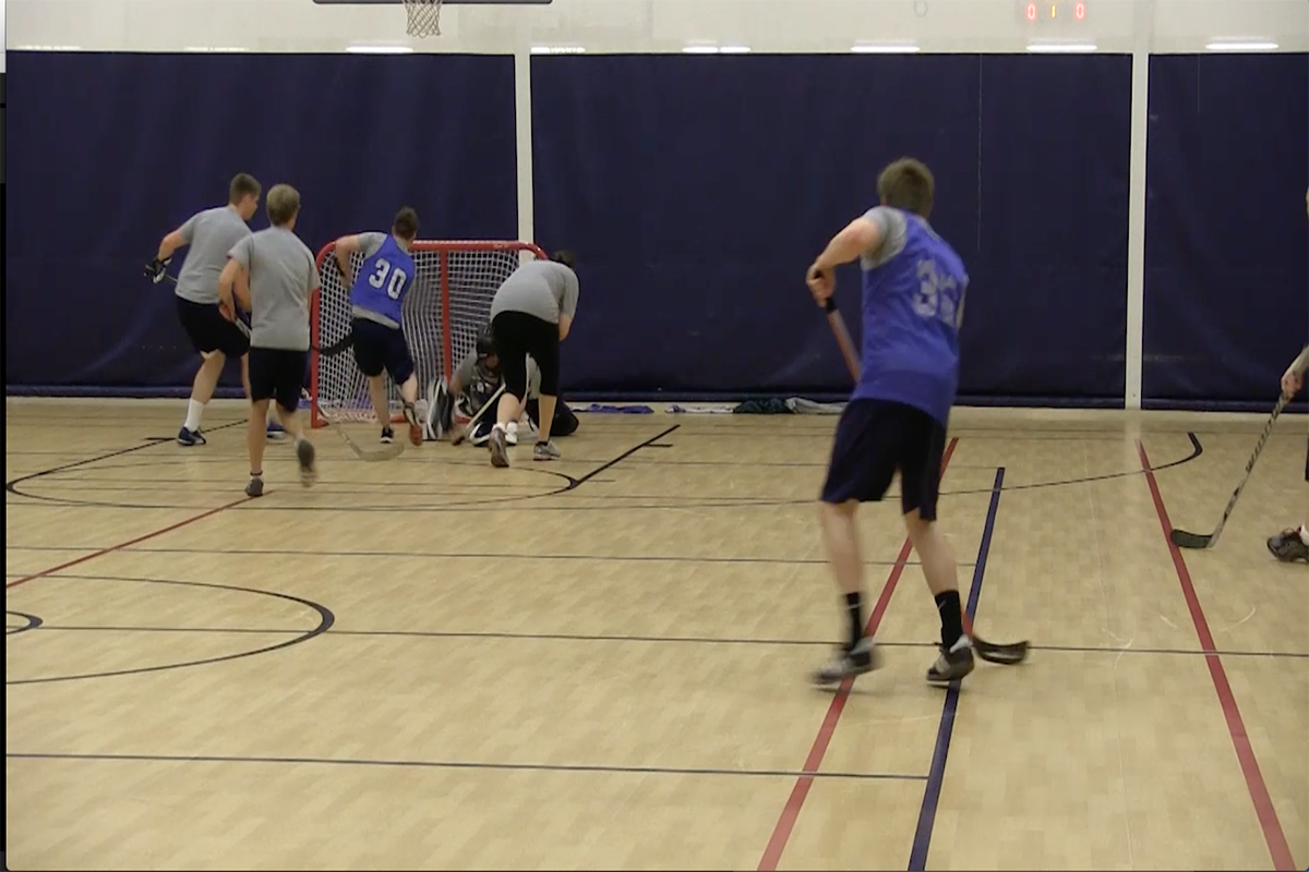 From the ice to hardwood, floor hockey is alive and well at BYU-Idaho