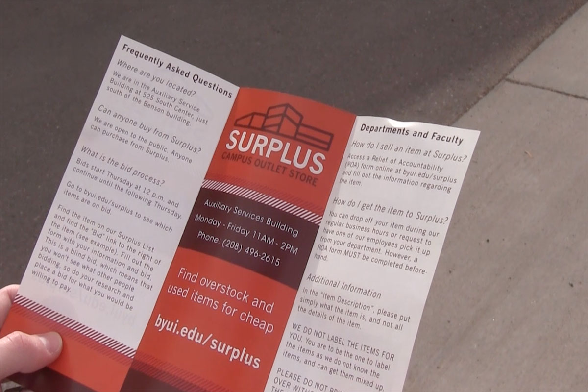 Bookstore holds surplus sale