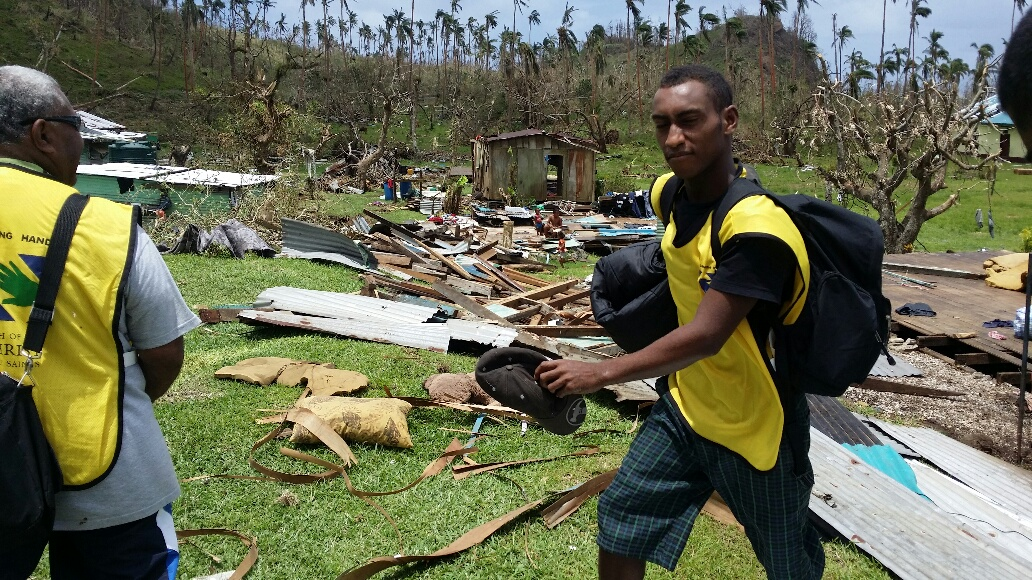 Church aids relief efforts in Fiji after cyclone Winston.