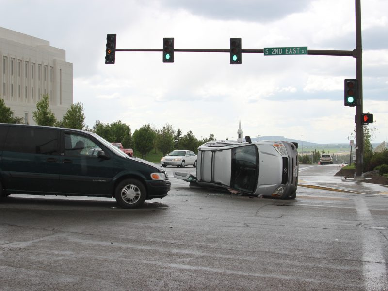 Car accident on 2nd East and 7th South (Shayla Davis, Scroll Photography)
