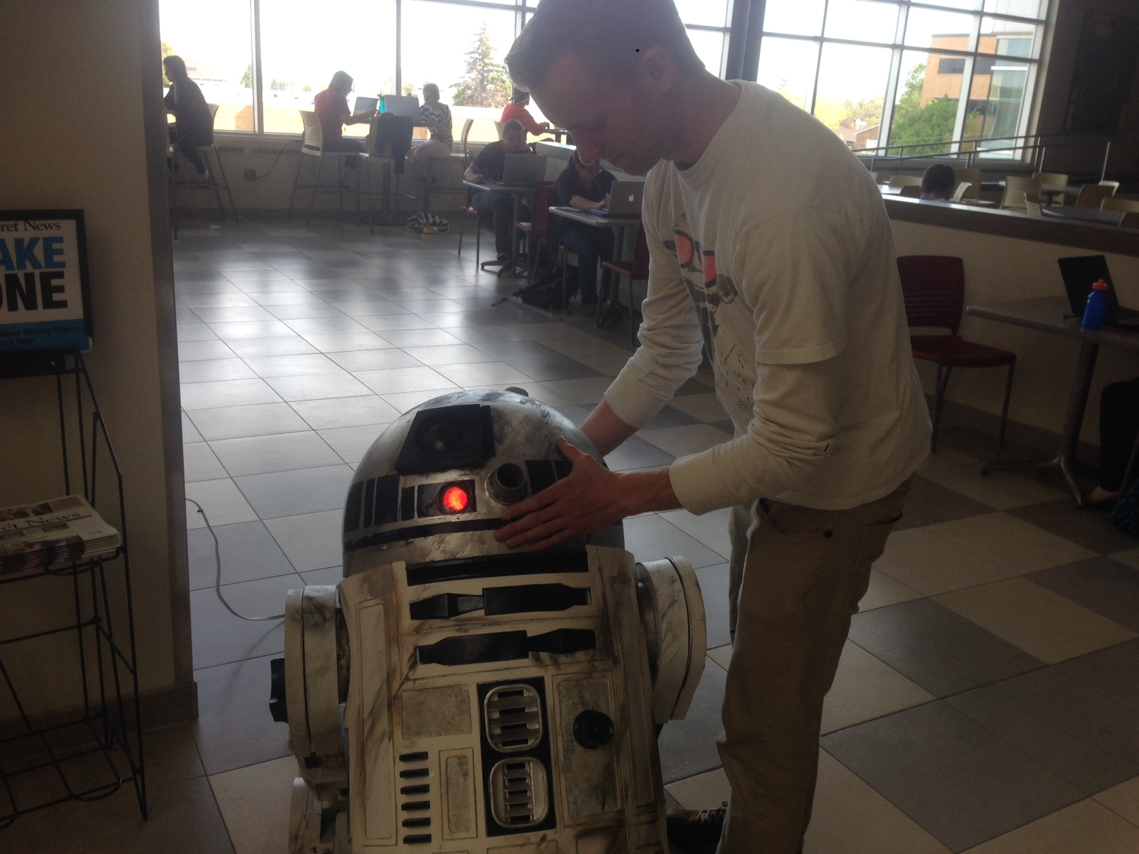 R2D2 Spotted at the Hyrum Manwaring Student Center