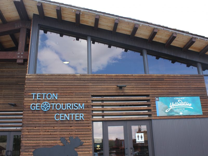 Geotourism Center in Driggs Idaho presents Yellowstone Exhibit designed by BYUI students. (Julissa Wade)
