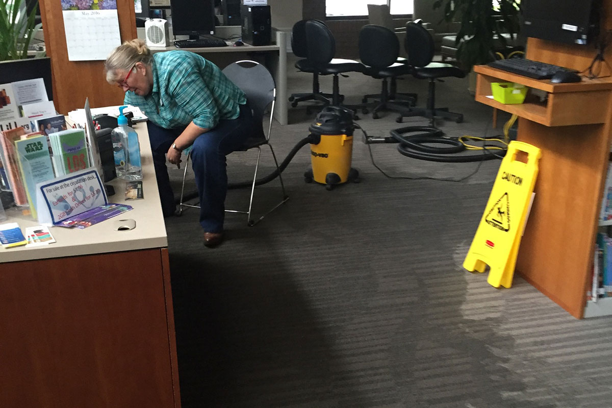 Madison Library opens after leak