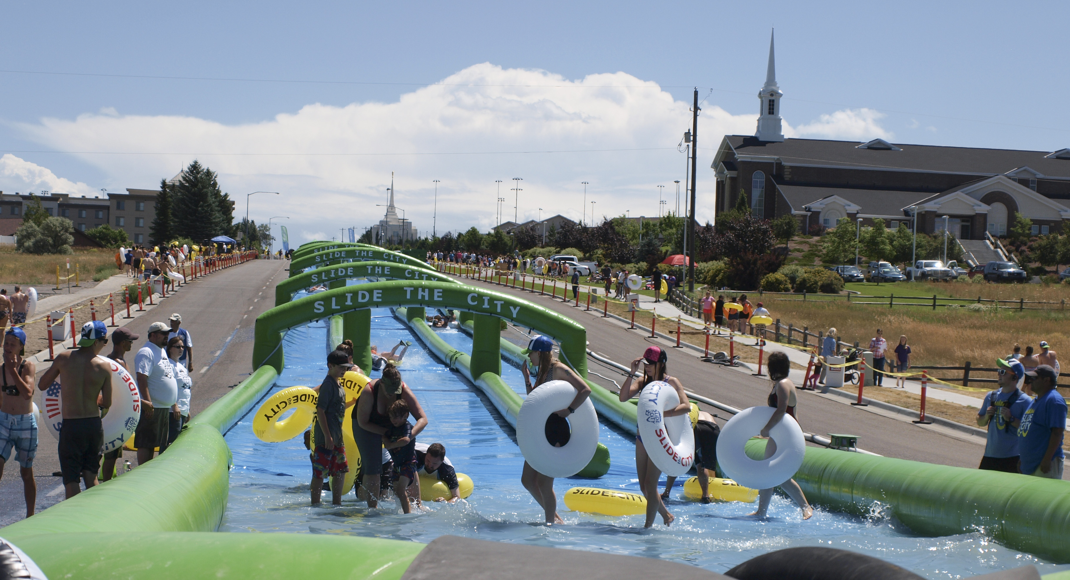 Record Breaking Slip and Slide comes to Rexburg