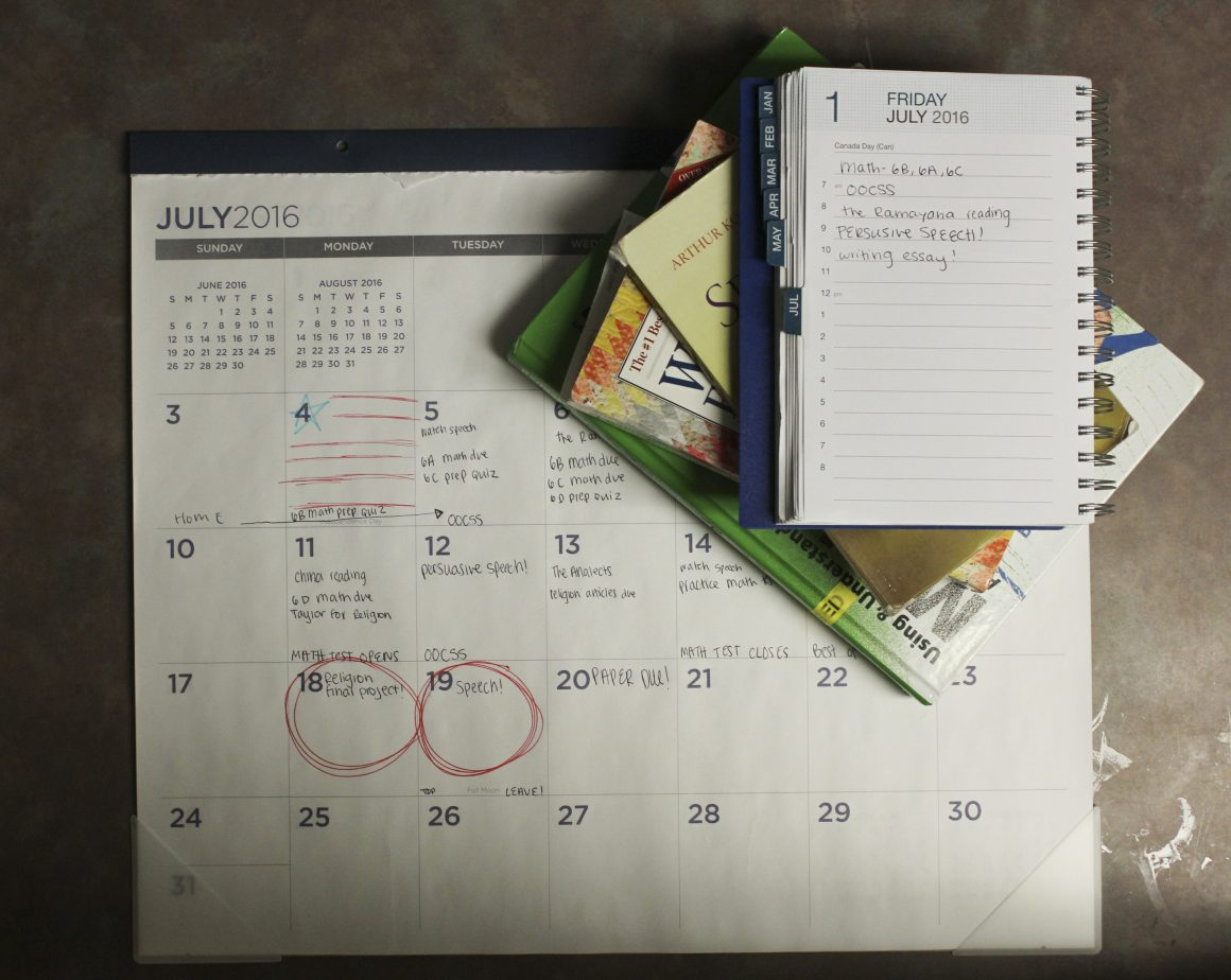 Planning out your month in advance can help reduce stress. (Emily Rose Perkins, Scroll Photo)