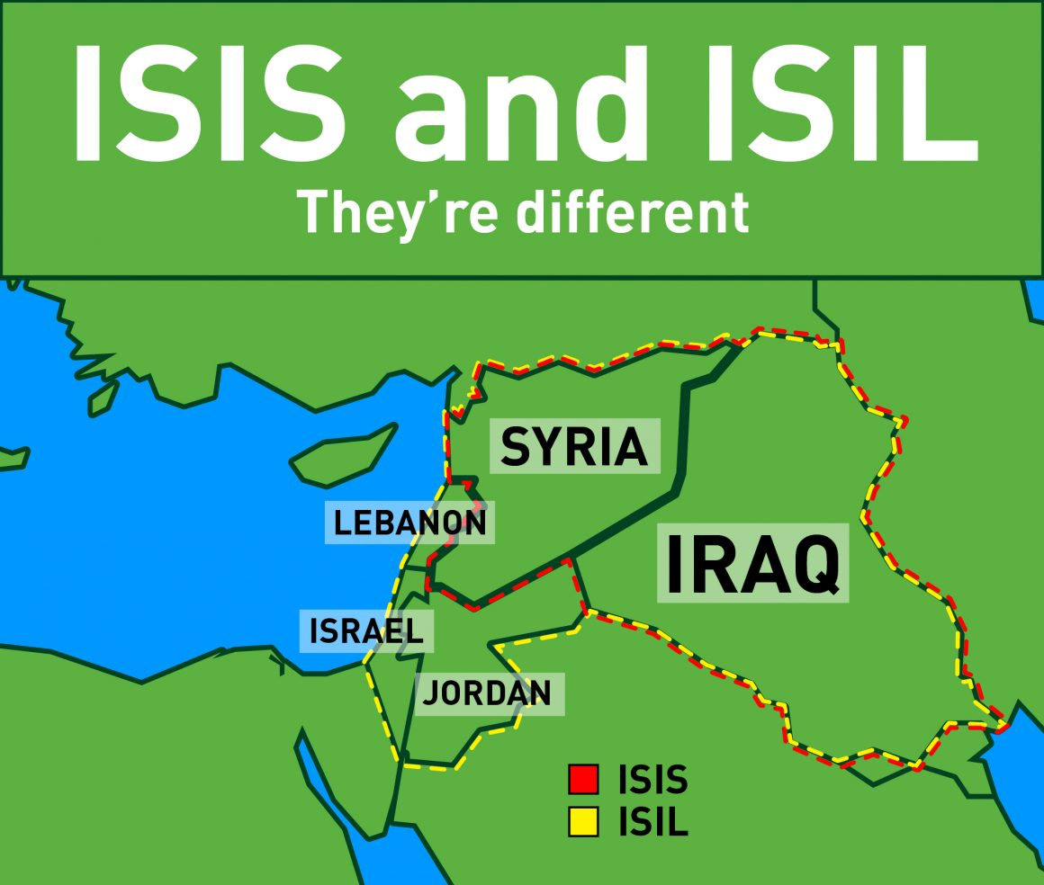 The difference between ISIS and ISIL (Chris Goyette, Scroll Illustraion)