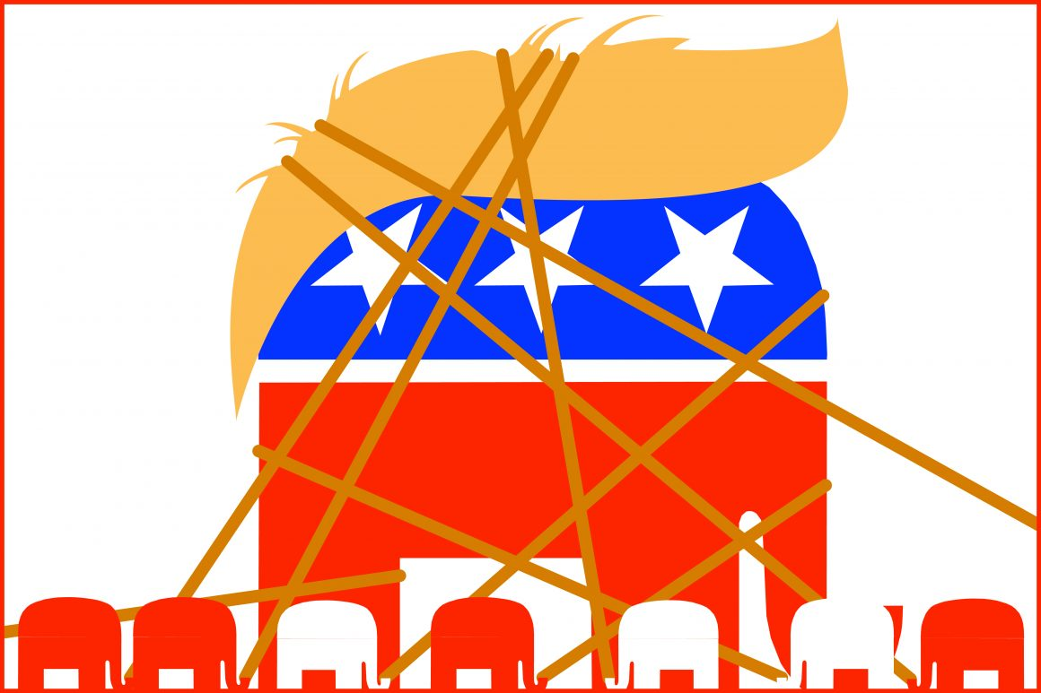 Republican national convention, is trump going down? (Chris goyette, Scroll Graphic Ilustration)