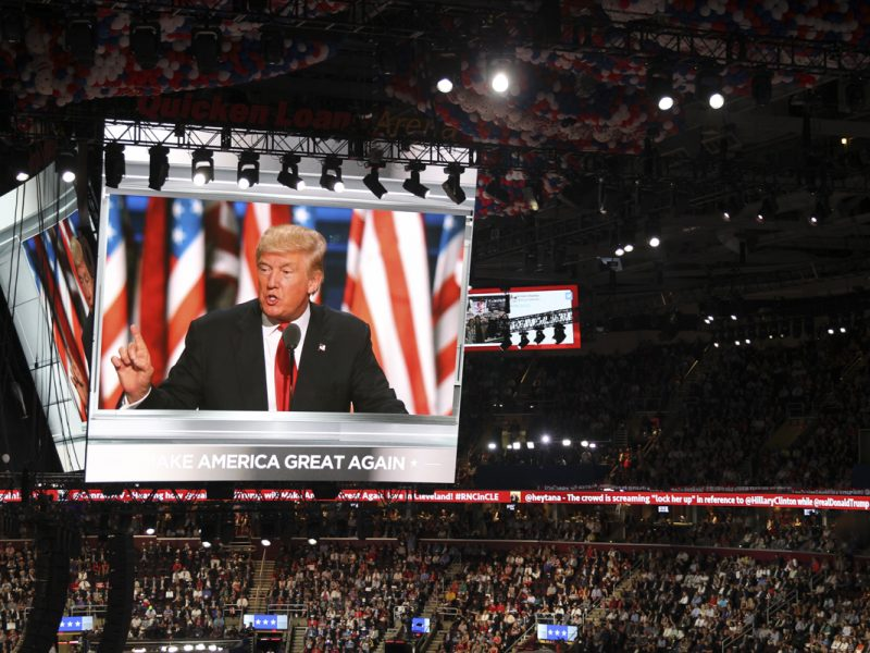 Last night of the RNC where Donald Trump and Ivanka Trump address the audience. (Brooks McFadden, Scroll Photography)