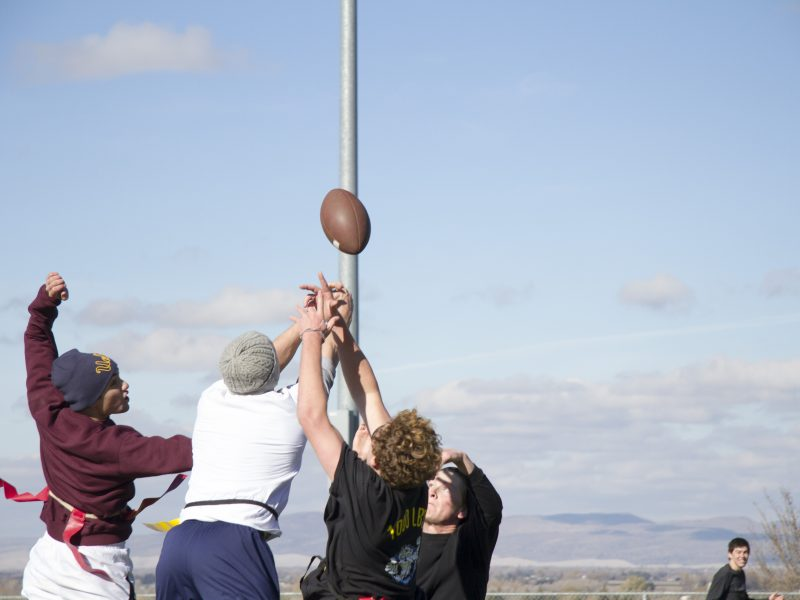 Flag football; sports; turkey bowl; team (Scroll Archive)