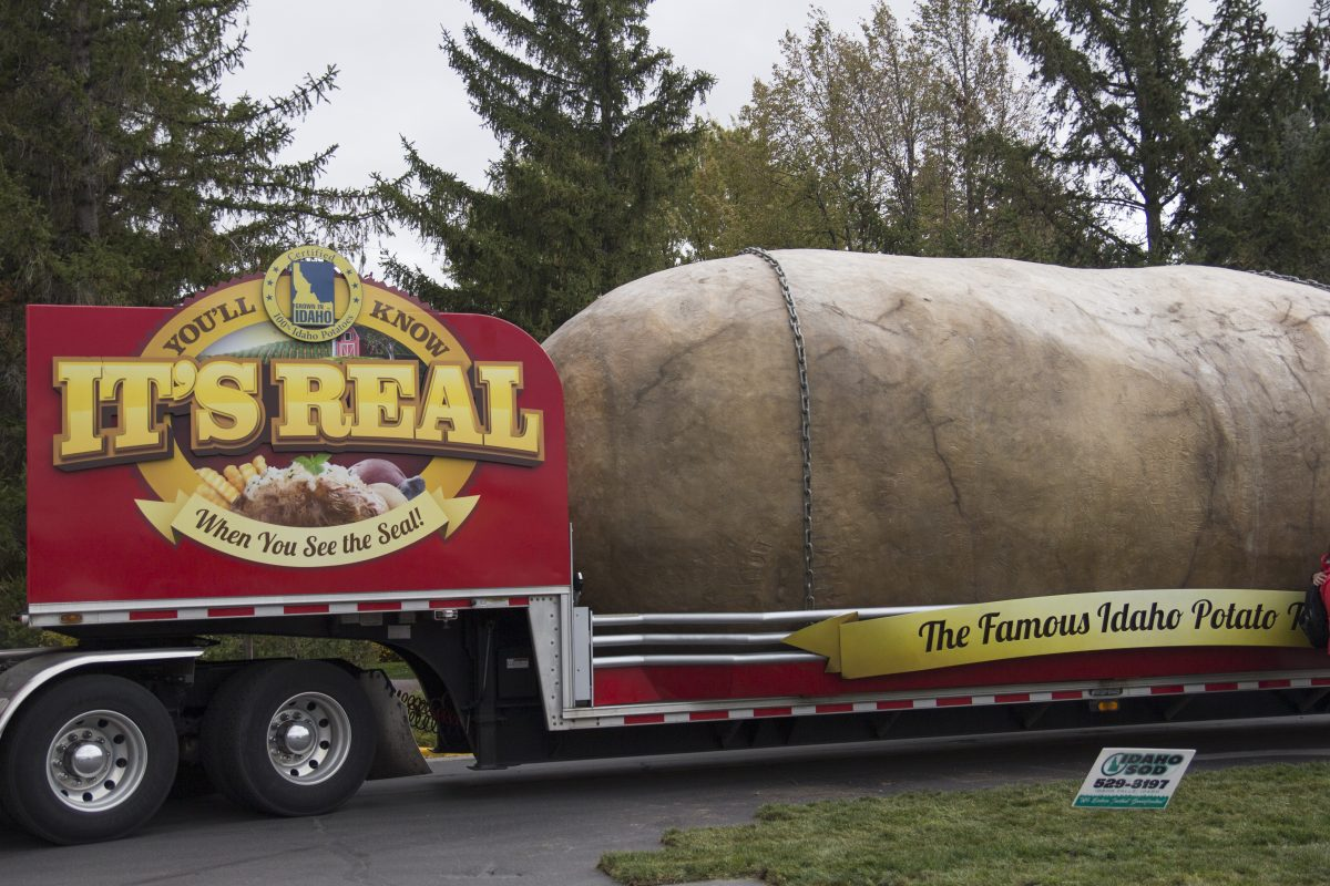 The Big Idaho Potato stops at BYU-I
