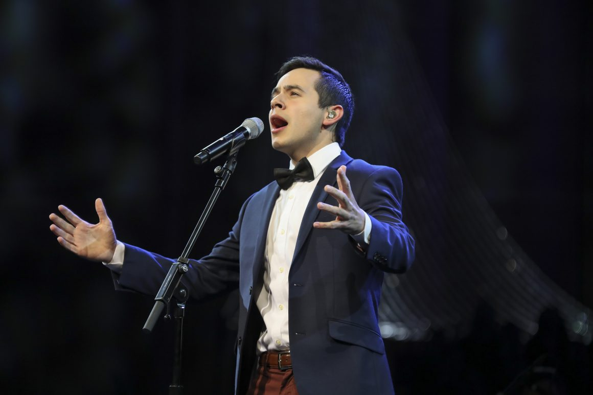 David Archuleta, Nathan Pacheco, chior and symphony orchestra perform their Christmas concert at BYU-I. (Savannah Sanok)