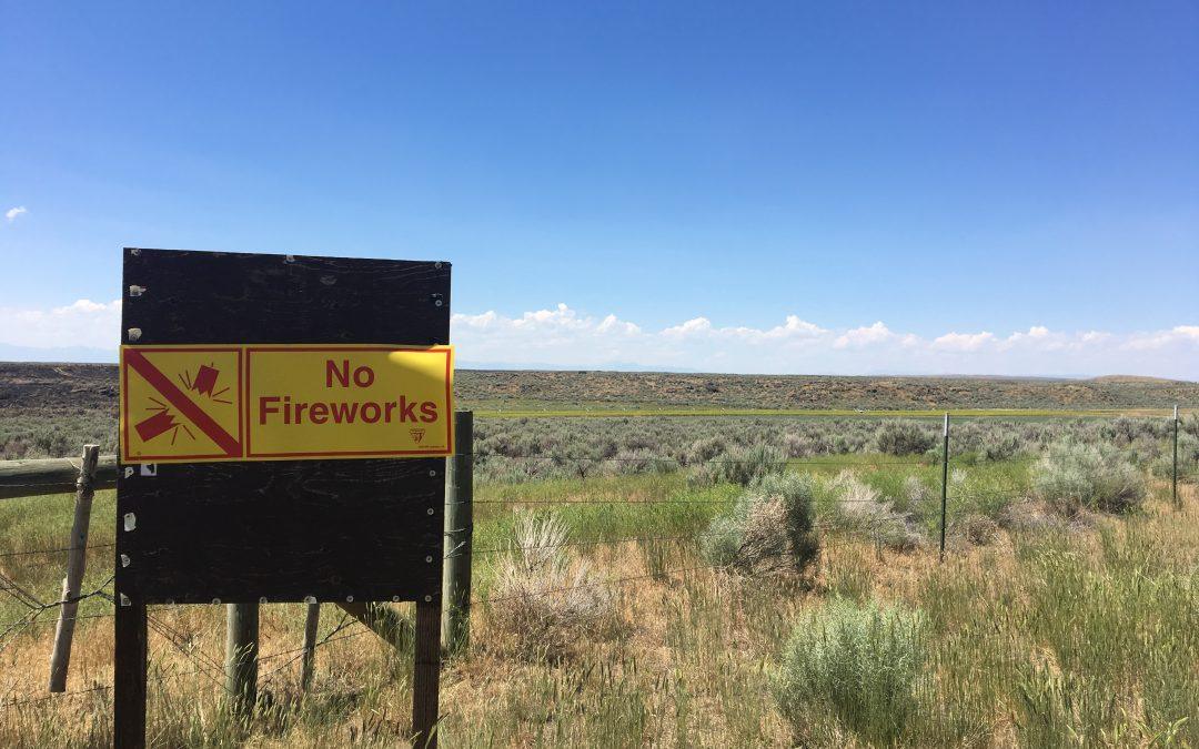 Firework regulations for Bureau of Land Management areas