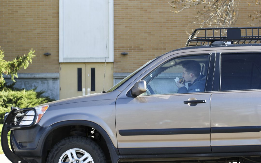 Drivers caught texting and eating behind the wheel at BYU-I