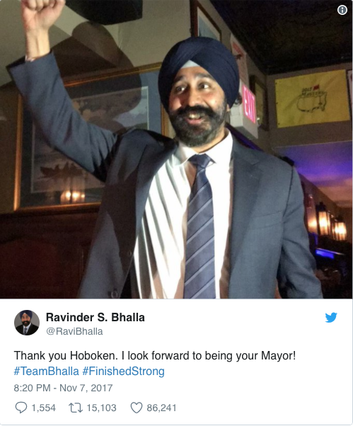 A sikh man is the new mayor of Hoboken